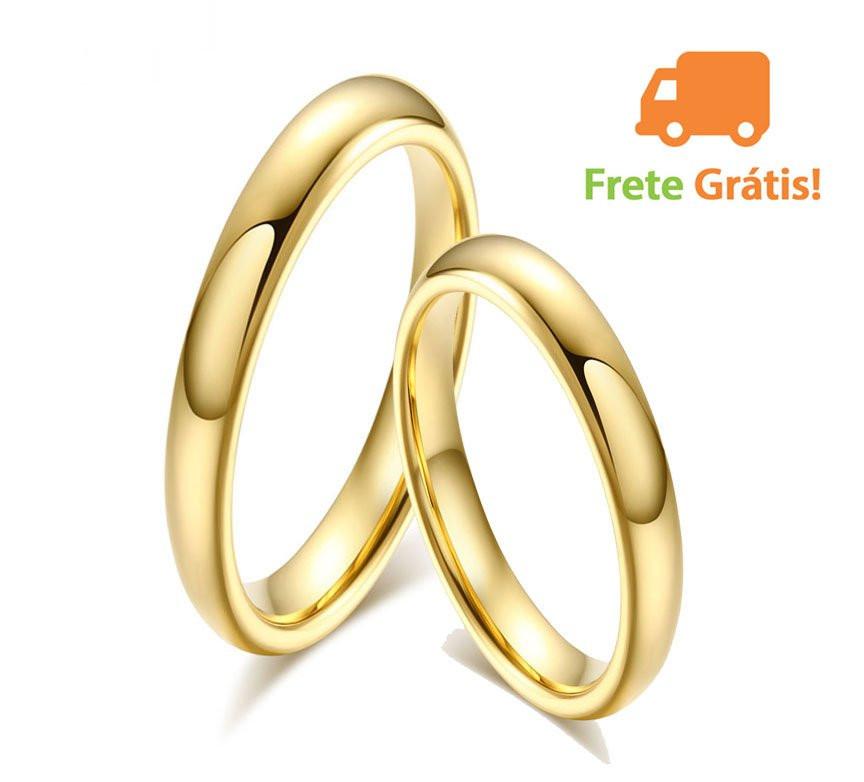Alianças de aço inox, tungstênio e ouro maciço compre aqui no maior site de aliança do Brasil, compre com segurança!